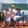Katie Swan - 14th Smrikva Bowl 2009 winner - receiving the trophy from Georgina